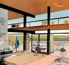 Atomic House Design | Home with Solair Chair, Steel Life, Mod Fire, Atomic Living Design ...