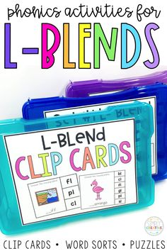 These beginning blends word work centers and activities are great for literacy centers in kindergarten, first grade, and 2nd grade classrooms. Students love the blends word sorts, puzzles, task cards, and spelling activities. They are great to use while teachers are meeting with small groups, and these phonics activities will keep your students having fun while working on phonemic awareness. Great for struggling readers and striving readers alike