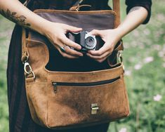 Our classic vintage leather camera bag is a handy practical and stylish photography accessory for your camera gear. Leather Camera Bag, Leather Wallet, Leather Bags, Camera Case, Camera Gear, Camera Accessories, Leather Accessories, Expensive Camera, Photography Accessories