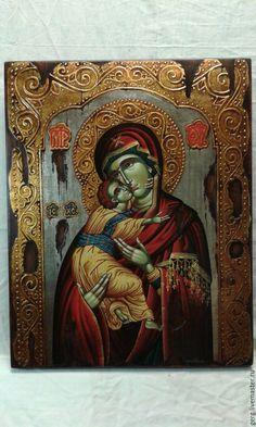 Купить Византийская икона св Марии единственный екземпляр зо - золотой, дерево, редкость, шедевр Painting, Art, Craft Art, Paintings, Kunst, Gcse Art, Draw, Drawings, Art Education Resources