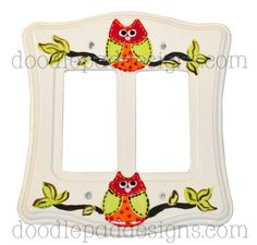 Double GFI owl switch plate.