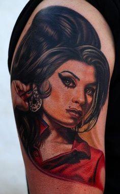nikko hurtado tattoos   INK IT UP: Amy Winehouse tattoo by Nikko Hurtado