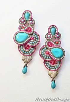 Hey, I found this really awesome Etsy listing at http://www.etsy.com/pt/listing/154745901/raspberry-turquoise-earrings-made-of