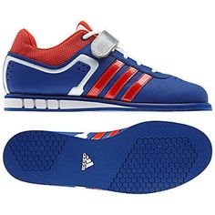 NEW ADIDAS POWERLIFT 2 Weightlifting MENS 8.5 Blue Red White NWT #Adidas #Athletic