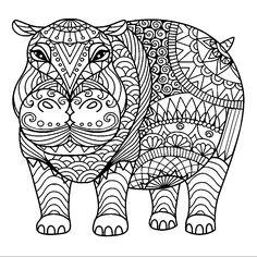 Coloring Sheets Pages Church Crafts Hippopotamus Cricut Growing Up Cool Stuff Fun Animal Needlepoint Mandalas For Adults