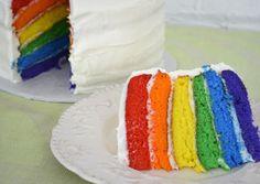 Easy Rainbow Layered Cake Recipe