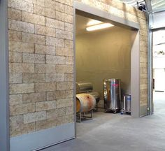 Barrel Rooms at NW Wine Academy ICF wood chip-cement organic building material formwork block