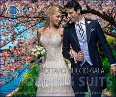 Chaqué azul para bodas de primavera – verano