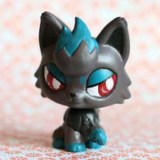 pokemon lps customs | OOAK Shiny Zorua Pokemon inspired Littlest Pet Shop LPS custom