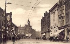 Old Doncaster: St Sepulchre Gate Circa 1899, featuring tram