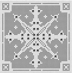 Snowflake filet pattern--many more patterns for filet on this site~~~ I used to love doing filet crochet, but haven't done any in ages.