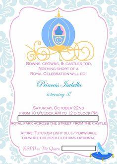 1000+ ideas about Cinderella Invitations on Pinterest | Snow White Invitations, Tinkerbell ...