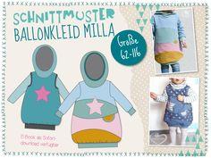 """Ballonkleid """"Milla"""" jetzt als E-Book erhältlich - das perfekte Frühlingskleid!"""