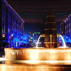 Frisco, TX at night....love Frisco square at Christmas time!!! Can't believe how my home town has exploded!!