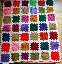 Granny Square Baby Afghan by lishyloo on Etsy, $15.00