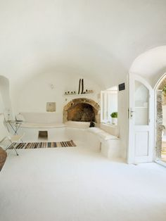 livingroom Summer House, Island of Kythira, Greece barefootstyling.com