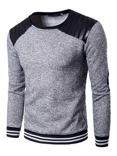 Sudadera con capucha de algodón mezclado con escote redondo con dibujo  retazados estilo informal 2db486ef9d79