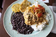 Costa Rica Chicken Plate! We were living in Costa Rica for the past year and I fell in love with the food. It is so simple, clean, and CHEAP to make! You'll love it. It will be something new but now sometime to complex to make :) Hope you enjoy!