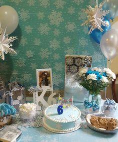 Winter theme birthday party