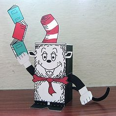 Cat in the Hat printable paper craft
