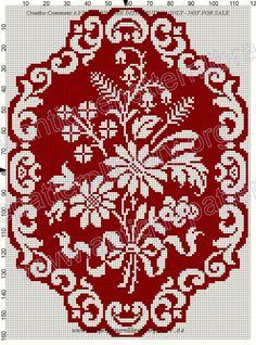 Sweater front/back Cross Stitch Pillow, Cross Stitch Borders, Cross Stitch Flowers, Cross Stitch Kits, Cross Stitch Charts, Cross Stitch Designs, Cross Stitching, Cross Stitch Patterns, Folk Embroidery