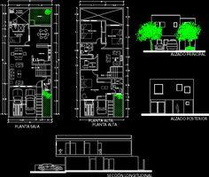 Plano de casa descargar plantas arquitectura dwg cad for Casa cad