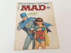 Vintage Mad Magazine No. 105 September 1966 Batman and Robin Cover