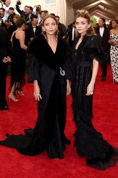 Mary-Kate and Ashley Olsen at the 2015 Met Gala  - HarpersBAZAAR.com