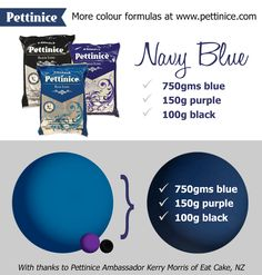Pettinice | How to achieve Royal Blue fondant