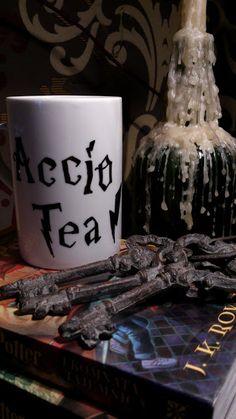 Accio Tea! Harry Potter mug DIY. Mine would have to be accio coffee