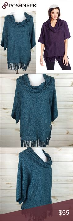 NY Collection Fringe Cowl Neck Oversized Sweater NWT - Never Worn - Great Condition -NY Collection Fringe Cowl Neck Oversized Sweater - Super Cute! NY Collection Sweaters Cowl & Turtlenecks