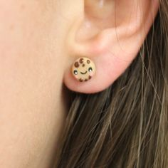 Girlzlyfe.Com - Chocolate Chip Cookie Stud Earrings, $9.99