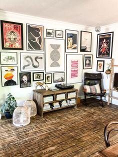 Living Room Decor, Living Spaces, Bedroom Decor, Wall Decor, Casa Pop, Eclectic Gallery Wall, Aesthetic Room Decor, Decoration Design, Inspiration Wall