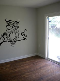 Owl Wall Decal Owl Bird Night Decal Sticker Bedroom Sticker Wall Art Gift Decoration  Choose Your Size!
