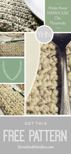 Crochet Ideas Unique The Perfect Crochet Placemat with a Farmhouse Style - If you're looking for another handmade addition to your farmhouse kitchen, then check out this simple crochet, wool placemat! Love Crochet, Crochet Gifts, Crochet Yarn, Easy Crochet, Crochet 101, Knitting Projects, Crochet Projects, Crochet Ideas, Sewing Projects