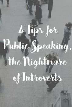If you are struggling with public speaking, I'm here to help. Here are my four best tips for surviving!