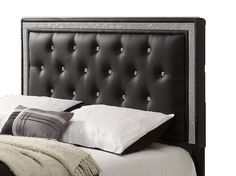 Found it at Wayfair - Breen Upholstered Headboard Queen headboard on the side of full bed to make a daybed Black Upholstered Headboard, Queen Size Headboard, Leather Headboard, Wood Headboard, Panel Headboard, Diy Headboards, Twin Headboard, Headboard Ideas, Home Bedroom