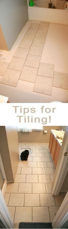 Great simple tips for tiling your floors DIY!  When I get the courage...and my husband trusts me to do this...