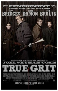 A great poster for the 2010 Coen Brothers' remake of True Grit starring Jeff Bridges as US Marshal Rooster Cogburn. Ships fast. 11x17 inches.