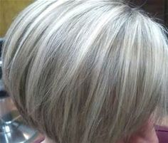 short gray hair with blonde highlights pictures - Bing images