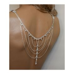 Wedding Rhinestone Jewelry Wedding Dress Shoulder by ADbrdal ($140) found on Polyvore