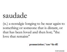Words & Definitions   saudade