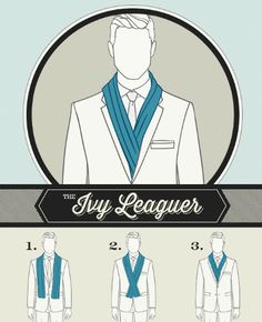 A scarf knot for The Ivy Leaguer See also: Scarf knots for The Weekender, The Jet Setter, The Connoisseur, The Sophisticate & The City Slicker.