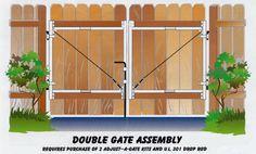 double swing wood fence gate   Double Gate
