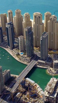 Marina, Dubai,I want to visit here one day. #dubai #uae