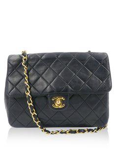 916b348bf857 Chanel Vintage Black Quilted Flap Bag Shoulder Bag Handbag Chanel Price,  Gold Hardware, Chanel