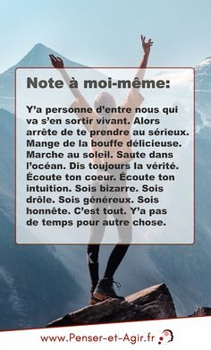 Note à moi-même. Vie Positive, Positive Mindset, Positive Attitude, Lotte World, Quote Citation, French Words, Sweet Words, How To Better Yourself, Good Advice
