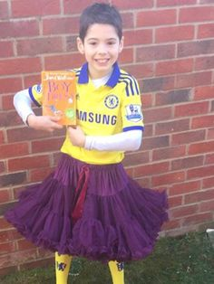 Will Myleene cause a stir at the school gates again with her World Book Day dress-up? Book Characters Dress Up, Book Character Costumes, World Book Day Costumes, Book Week Costume, World Book Day Ideas, Wedding Outfit For Boys, Boys Wearing Skirts, School Costume, Man Skirt
