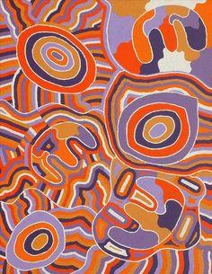 Janganpa Jukurrpa (Brush-tail Possum Dreaming)-  Mawurrji by Judith Nungarrayi Martin
