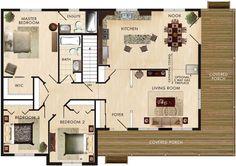 Cortland Floor Plan Specs Living Room: 15′-4″ x 13′-4″ Kitchen: 12′-0″ x 13′-4″ Nook: 11′-1″ X 13′-4″ Master Bedroom: 12′-8″ X 15′-2″ Bedroom 2: 10′-5″ X 12′-0″ Bedroom 3: 10′-4″ X 10′-0″